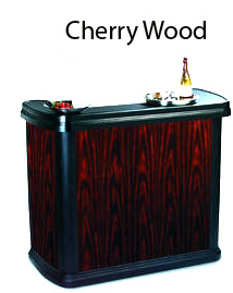Cherry Wood Portable Bar